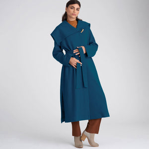 Simplicity Sewing Pattern 9015 Misses' / Petite Coat with Belt