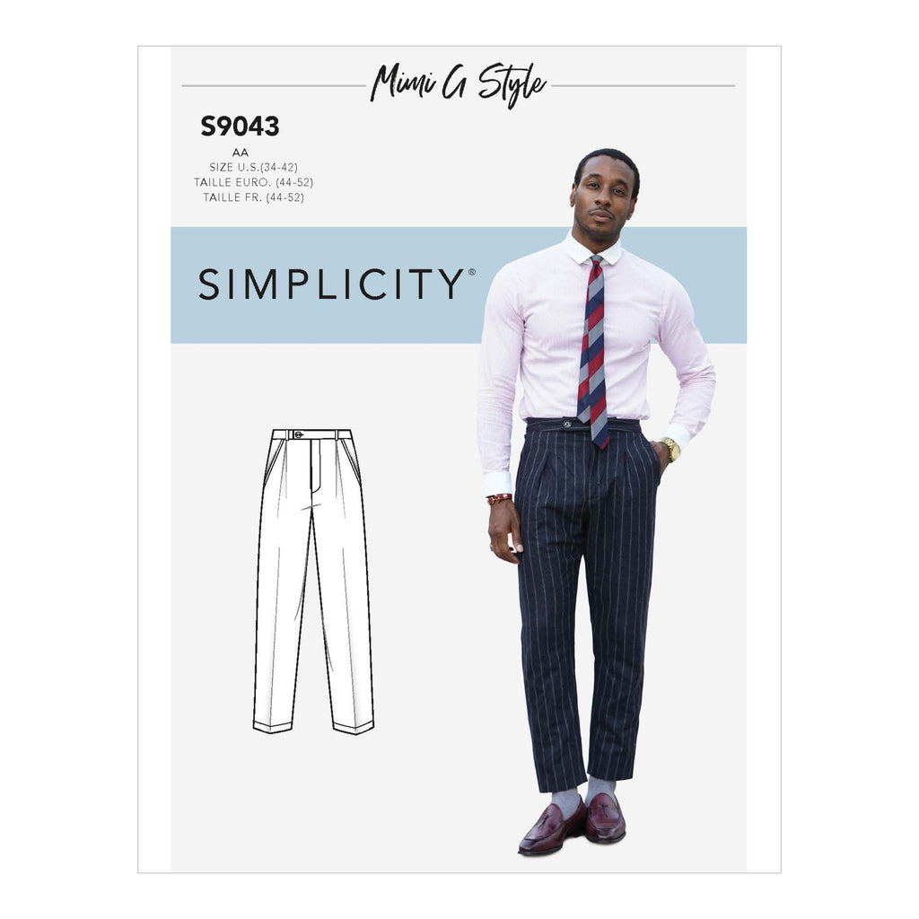 Simplicity Sewing Pattern S9043 Men's Trousers from Jaycotts Sewing Supplies