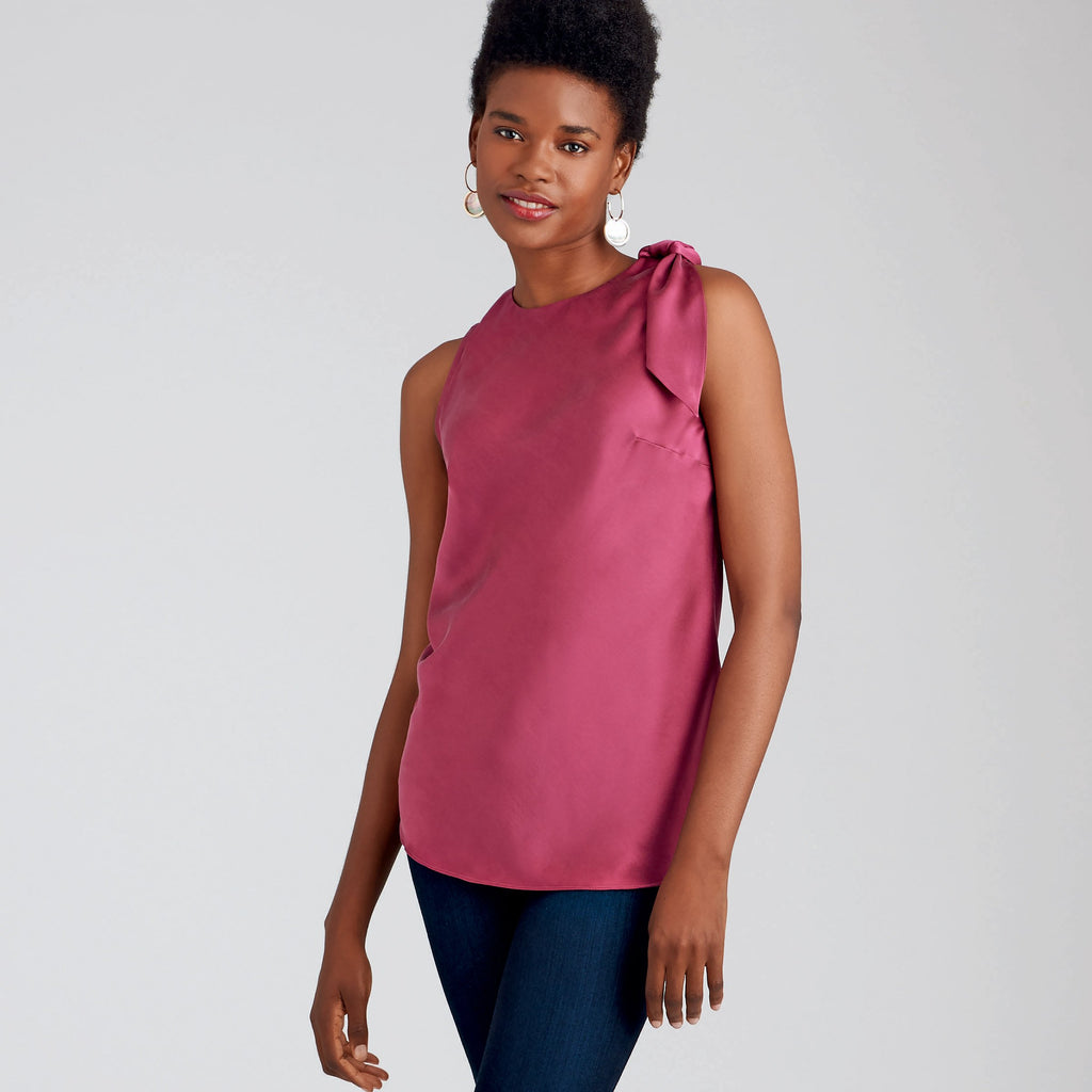 Simplicity Sewing Pattern S9045  Tops With Optional Neck Ties