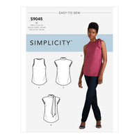 Simplicity Sewing Pattern S9045  Tops With Optional Neck Ties from Jaycotts Sewing Supplies