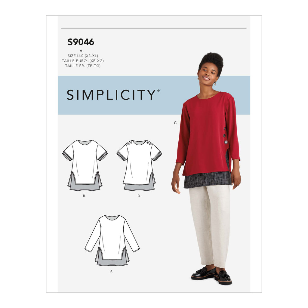 Simplicity Sewing Pattern S9046  Layered Tunics from Jaycotts Sewing Supplies