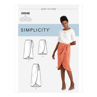 Simplicity Sewing Pattern S9048  Sarong Skirt With Pleats/Gather