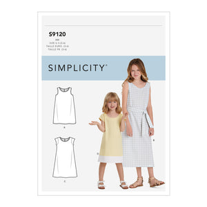 Simplicity Sewing Pattern S9120 Girls' Dresses from Jaycotts Sewing Supplies