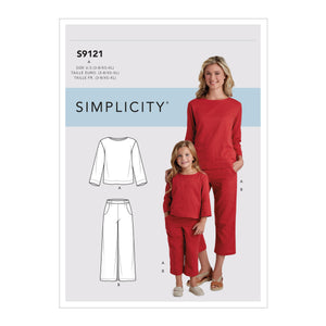 Simplicity Sewing Pattern S9121 Children's and Misses' Top and Pants from Jaycotts Sewing Supplies