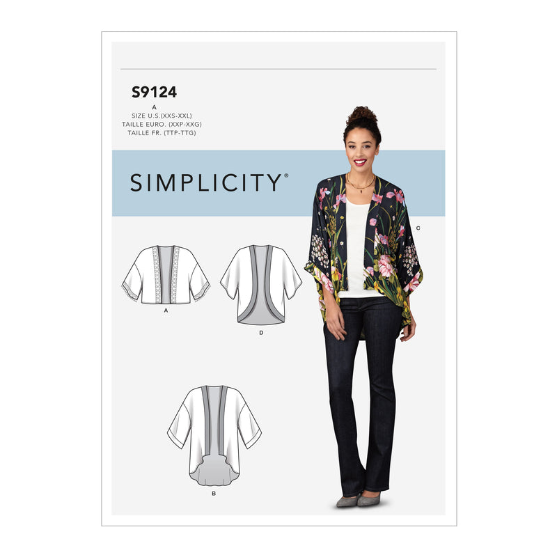 Simplicity Kimono Sewing Pattern 9124 from Jaycotts Sewing Supplies