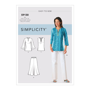 Simplicity Sewing Pattern S9130 Misses / Women's Tops and Bottoms from Jaycotts Sewing Supplies