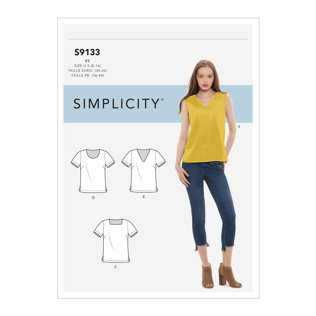 Simplicity Sewing Pattern S9133  Tops
