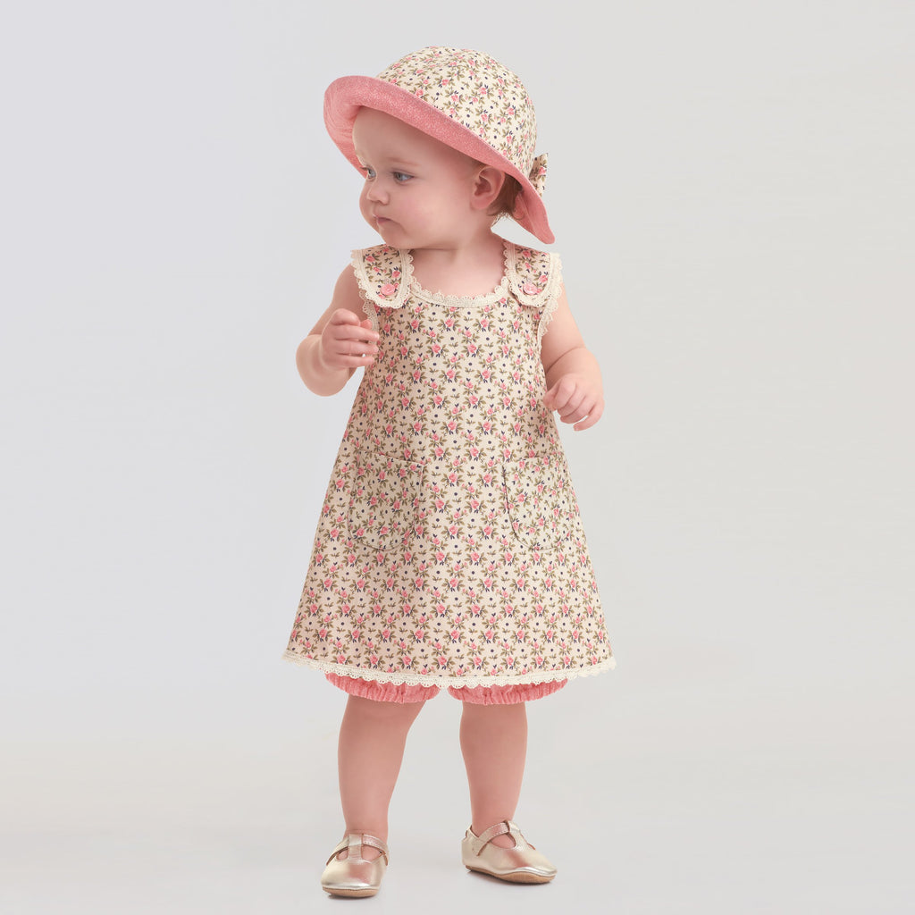 Simplicity Sewing Pattern 9152 Babies' Dress, Panties and Hat