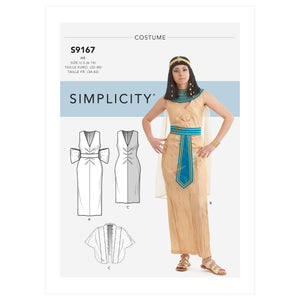 Simplicity 9167 Misses' Cleopatra Costumes Pattern from Jaycotts Sewing Supplies