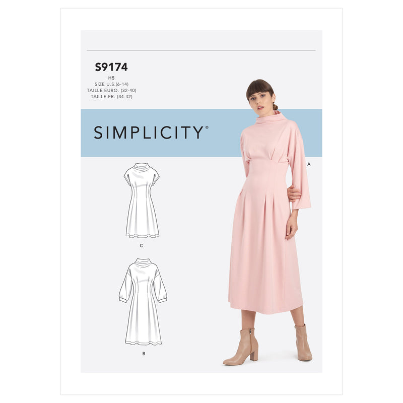 Simplicity Sewing Pattern 9174 Misses' Knit Dress from Jaycotts Sewing Supplies