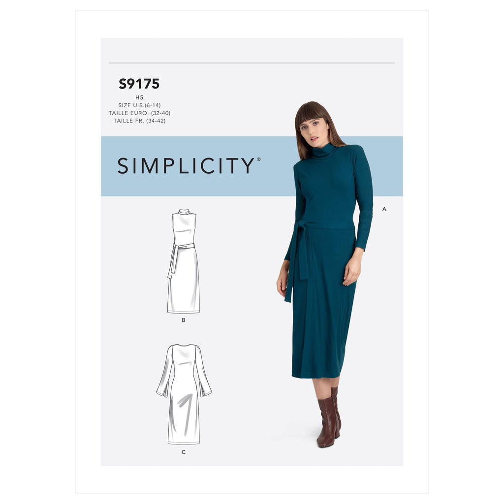 Simplicity Sewing Pattern 9175 Misses' Dress from Jaycotts Sewing Supplies