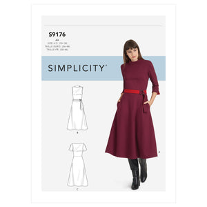 Simplicity Sewing Pattern 9176  Misses' / Women's Dresses from Jaycotts Sewing Supplies
