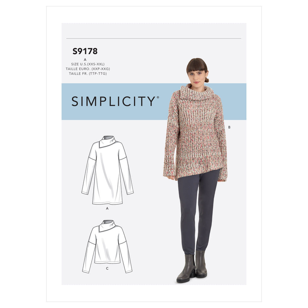 Simplicity Sewing Pattern 9178  Tops from Jaycotts Sewing Supplies