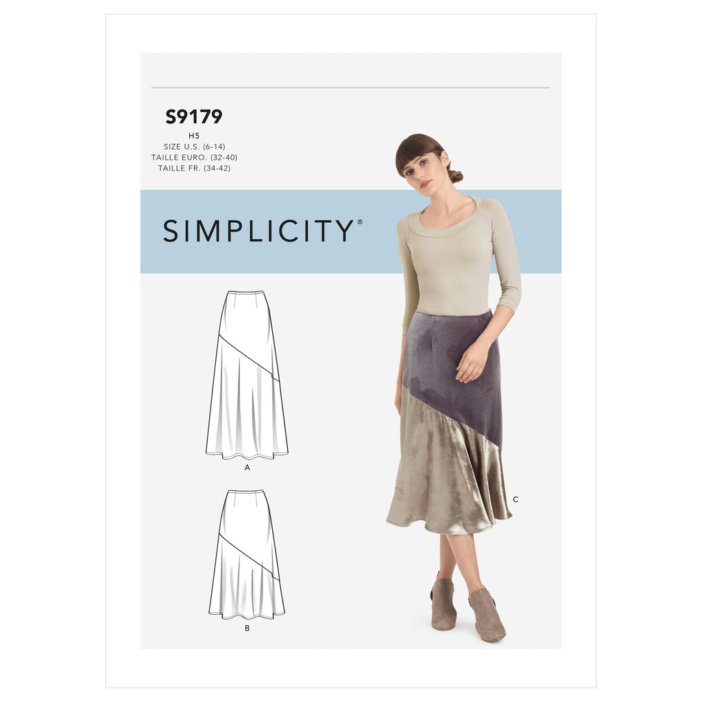 Simplicity Sewing Pattern 9179  Skirts from Jaycotts Sewing Supplies