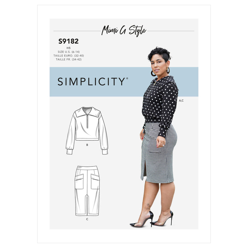Simplicity Sewing Pattern 9182 Knit Top and Skirt from Jaycotts Sewing Supplies