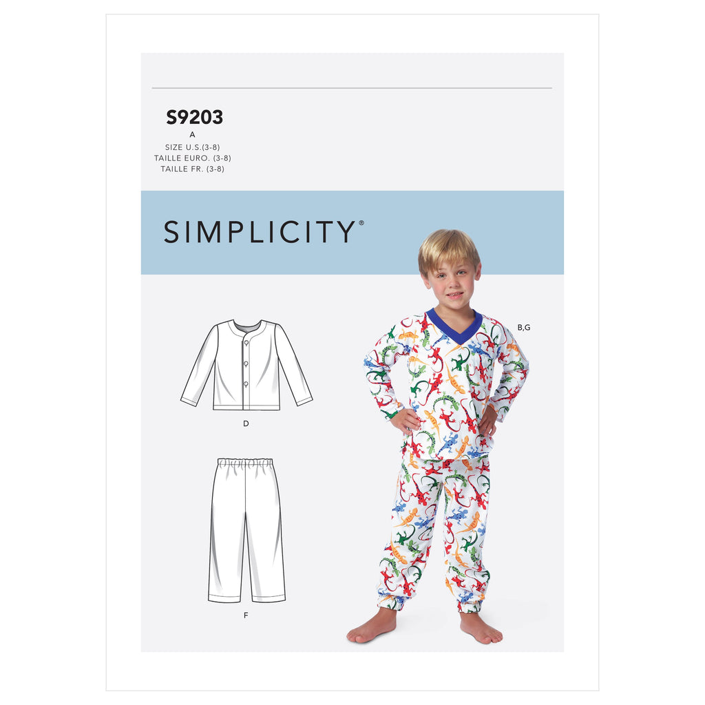 Simplicity Sewing Pattern 9203 Boys' Tops, Shorts and Pants from Jaycotts Sewing Supplies