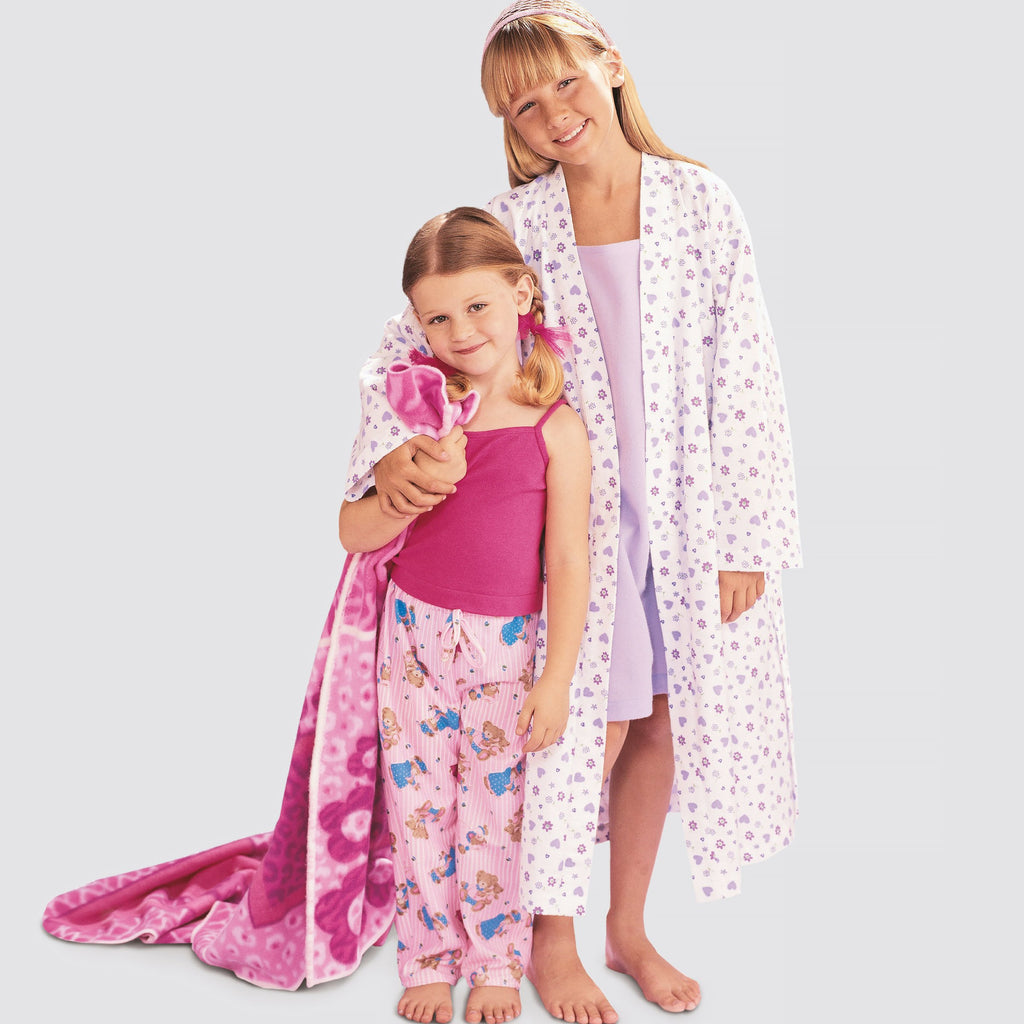 Simplicity 9208 sewing pattern Girls Robe from Jaycotts Sewing Supplies