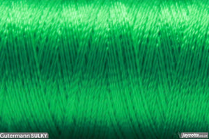 Sulky Rayon 40 Embroidery Thread #1101 True Green from Jaycotts Sewing Supplies