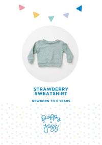 Sew Over It Poppy + Jazz | Strawberry Sweatshirt Pattern from Jaycotts Sewing Supplies