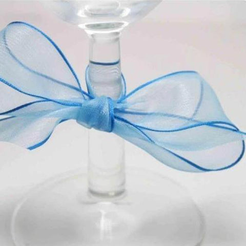 TURQUOISE Super Fine Organza Ribbon - wired edge
