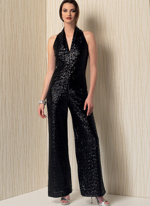 Vogue Pattern V1506 Sleeveless Wide Leg Jumpsuit Jaycotts