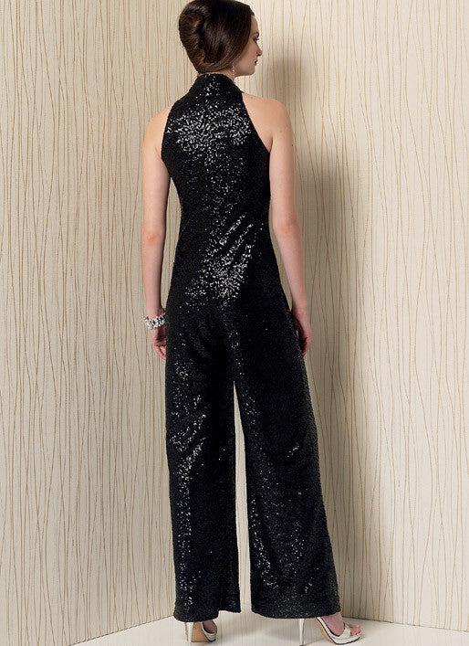 Vogue pattern V1506 Sleeveless wide leg jumpsuit