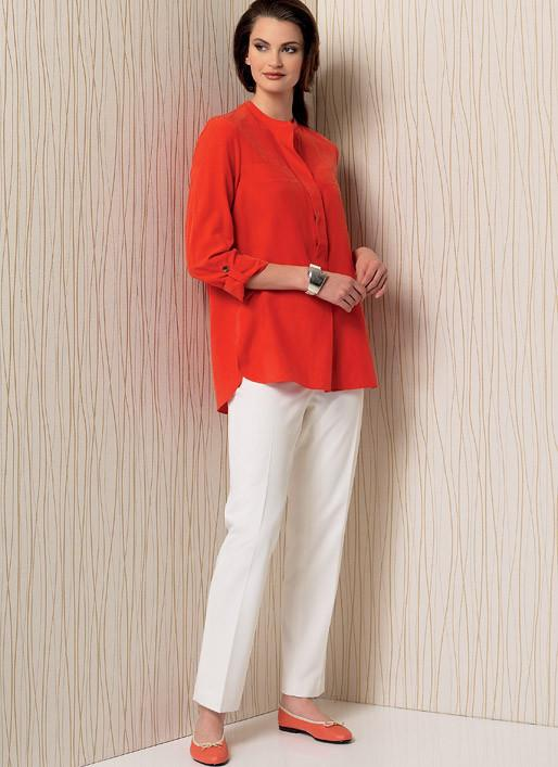 Vogue pattern V1509 Banded Tunic with Yoke and Tapered Pants
