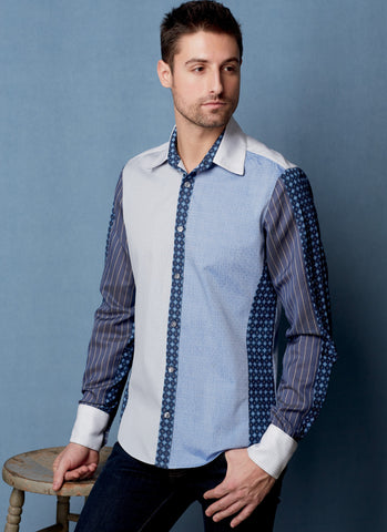 V1599 Men's Shirt Pattern | Koos van den Akker