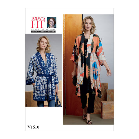 V1610 Misses' Kimono and Belts | Vogue Pattern
