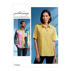 Vogue Pattern 1622 Fitted button-front shirt