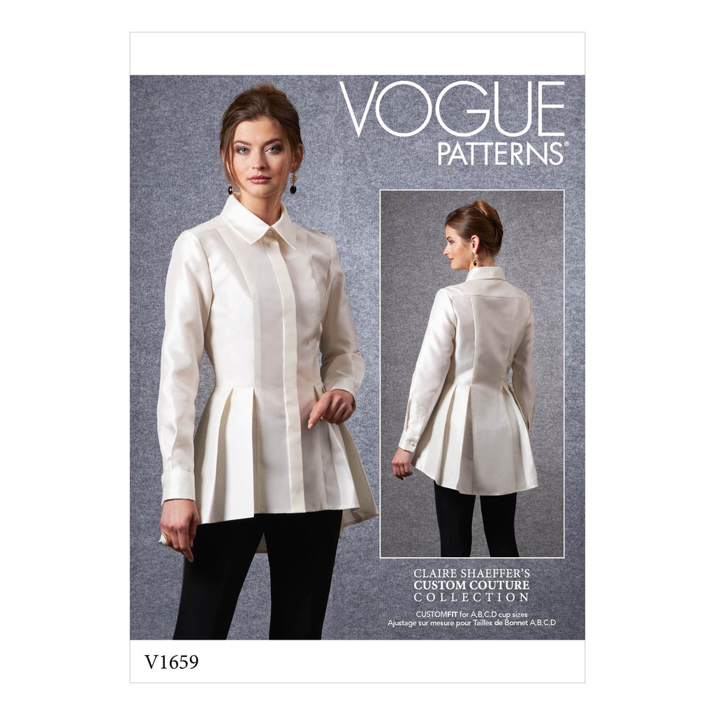 Vogue Sewing Pattern 1659 Petite Shirt | Claire Shaeffer