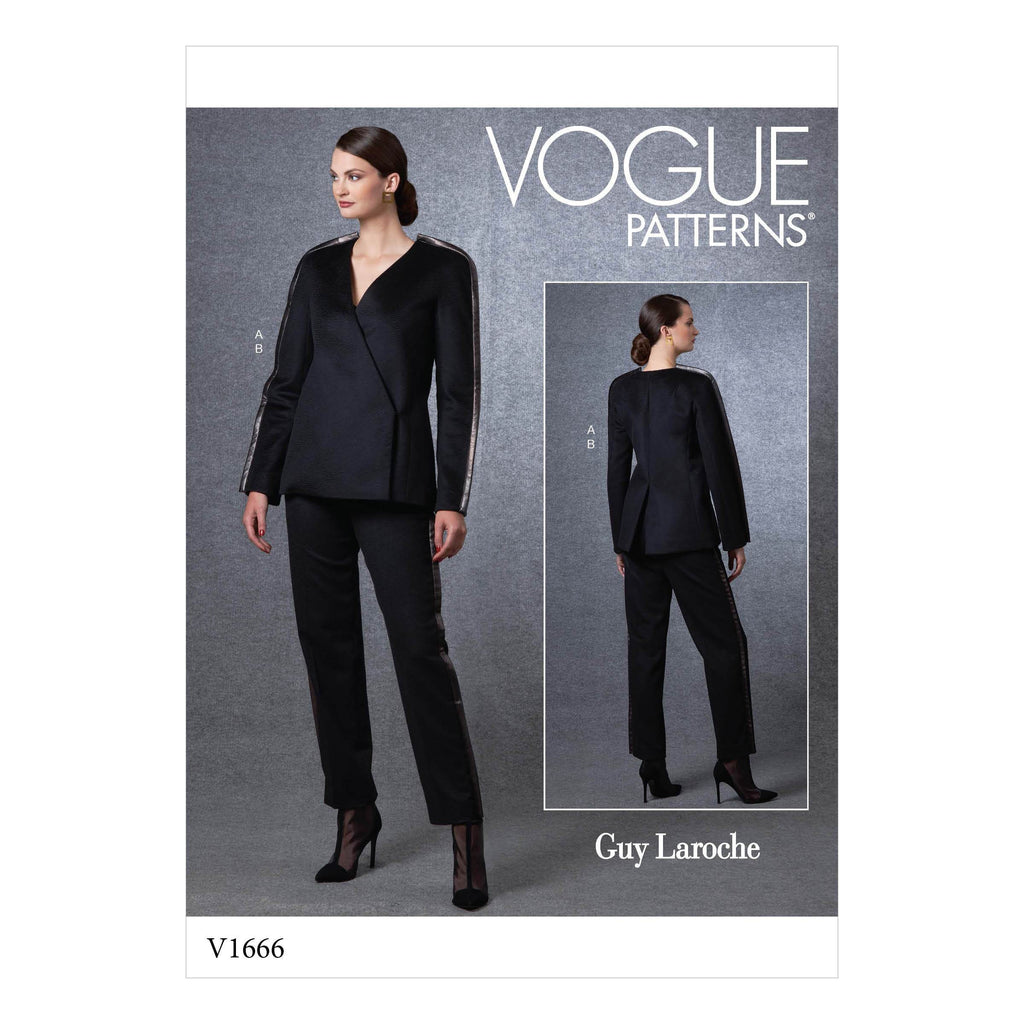 Vogue Sewing Pattern 1666 Jacket and Pants | Guy Laroche