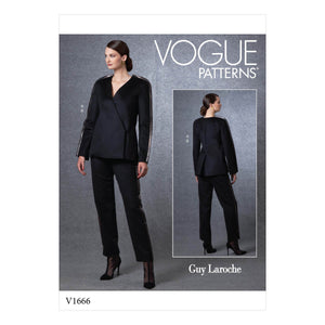 Vogue Sewing Pattern 1666 Jacket and Pants | Guy Laroche from Jaycotts Sewing Supplies