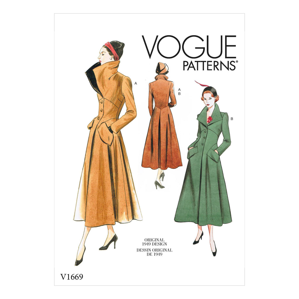 Vogue Sewing Pattern 1669 1940's coat | Vintage Vogue