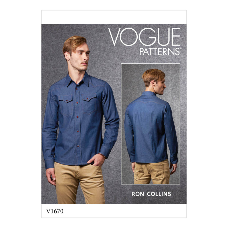 Vogue Sewing Pattern 1670 Men's Shirt | Ron Collins