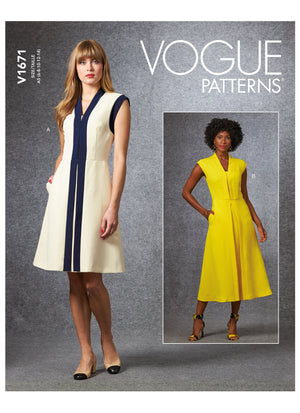 Vogue sewing pattern 1671 | Misses' Dress