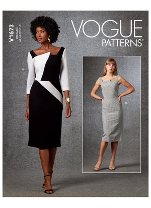 Vogue sewing pattern 1673 | Misses' Dress from Jaycotts Sewing Supplies