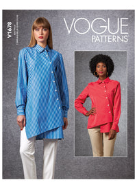 Vogue sewing pattern 1678 | Misses' Shirt