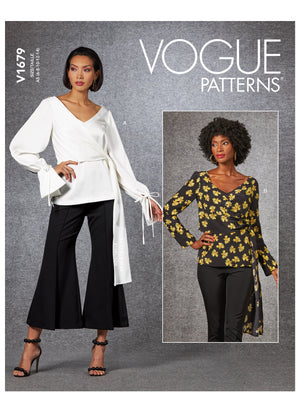 Vogue sewing pattern 1679 | Misses' Top from Jaycotts Sewing Supplies