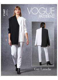 Vogue sewing pattern 1687 Guy Laroche Misses' Jacket and Trousers