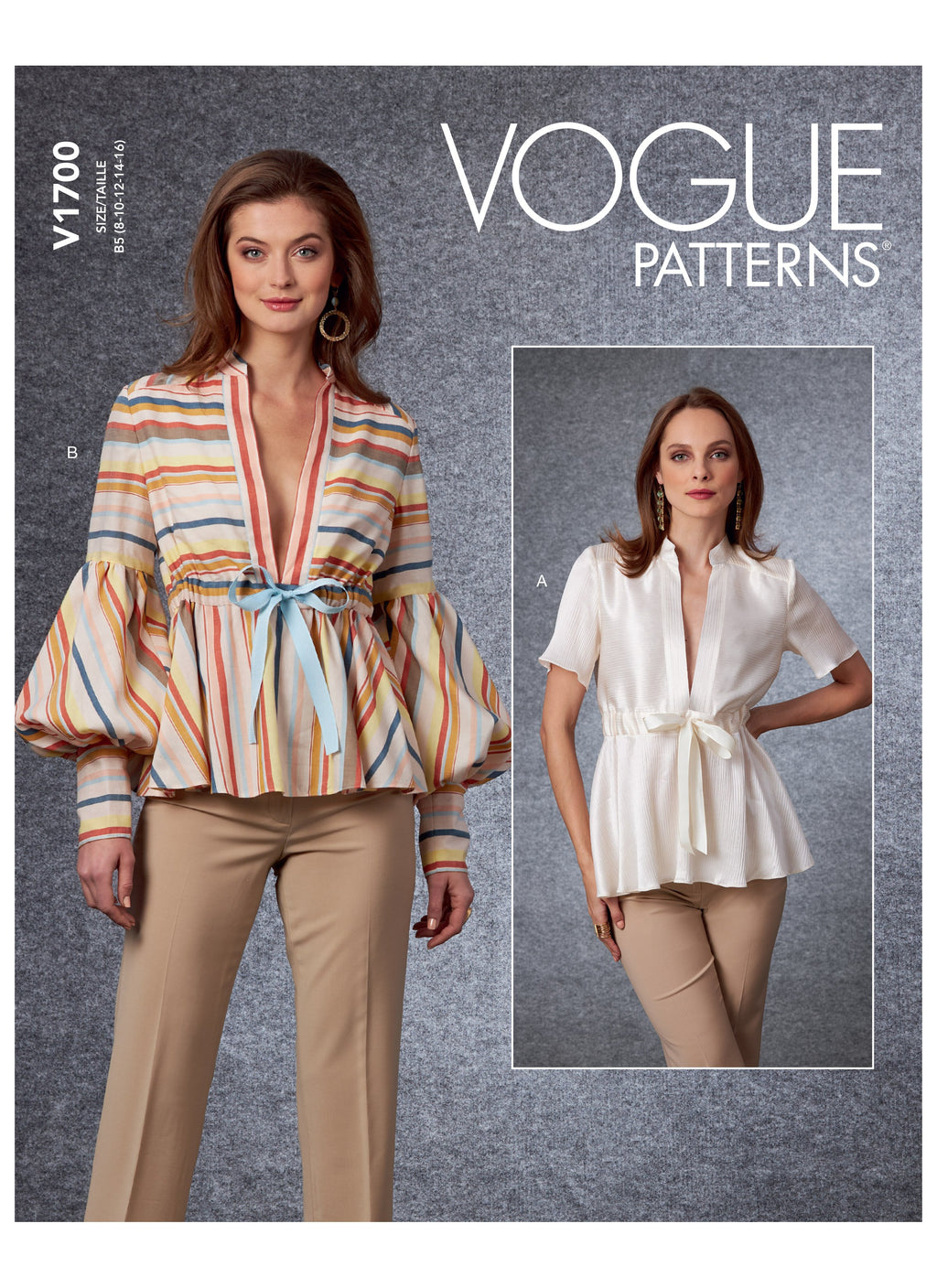 Vogue 1700 Top sewing pattern