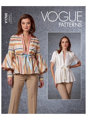 Vogue 1700 Top sewing pattern from Jaycotts Sewing Supplies