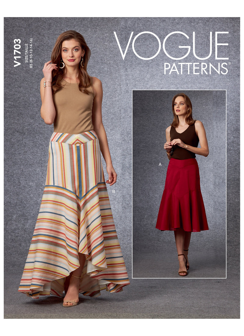 Vogue 1703 Skirt sewing pattern