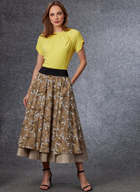 Vogue 1705 Top and Skirt sewing pattern