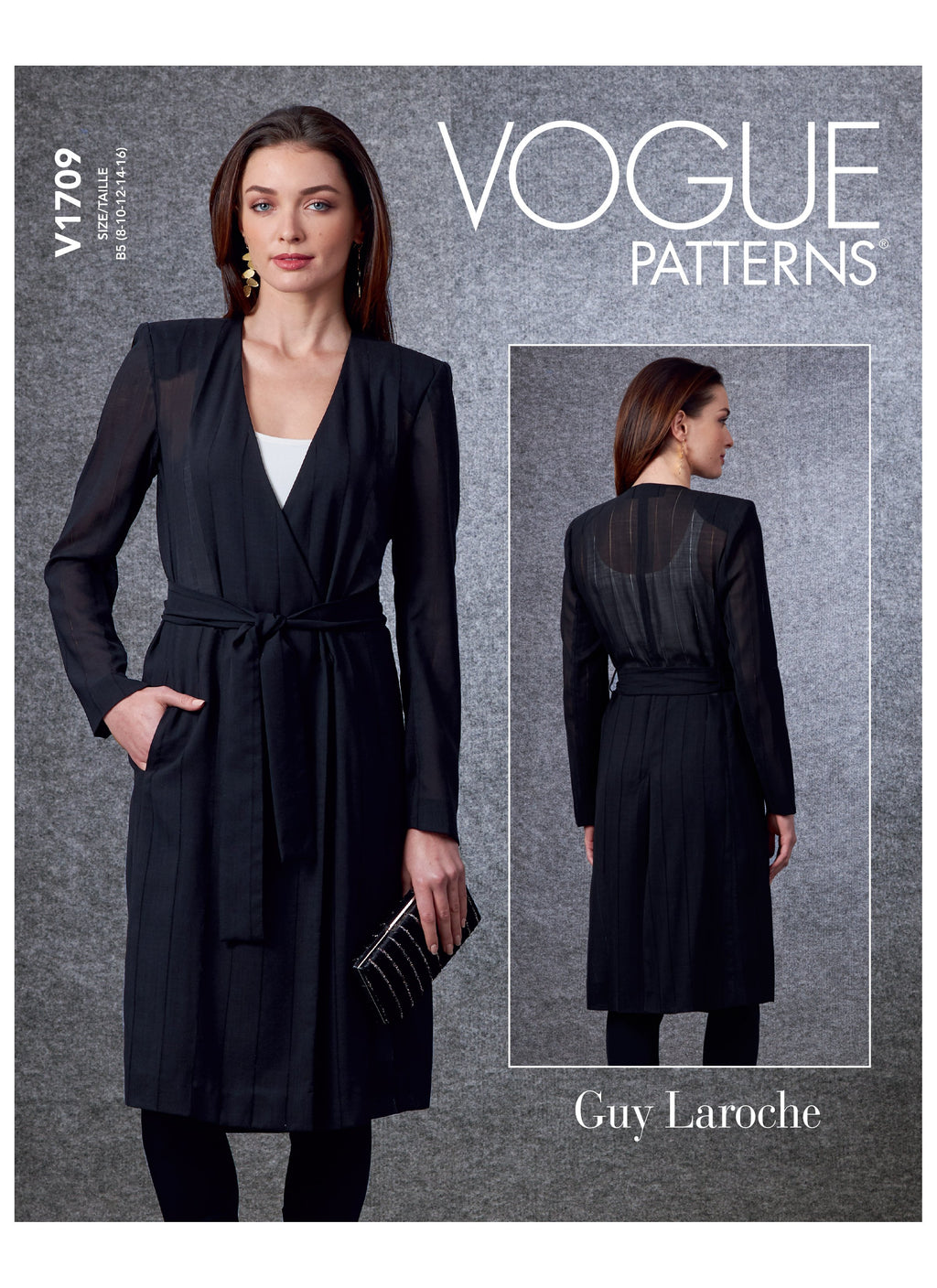 Vogue 1709 Jacket and Belt sewing pattern