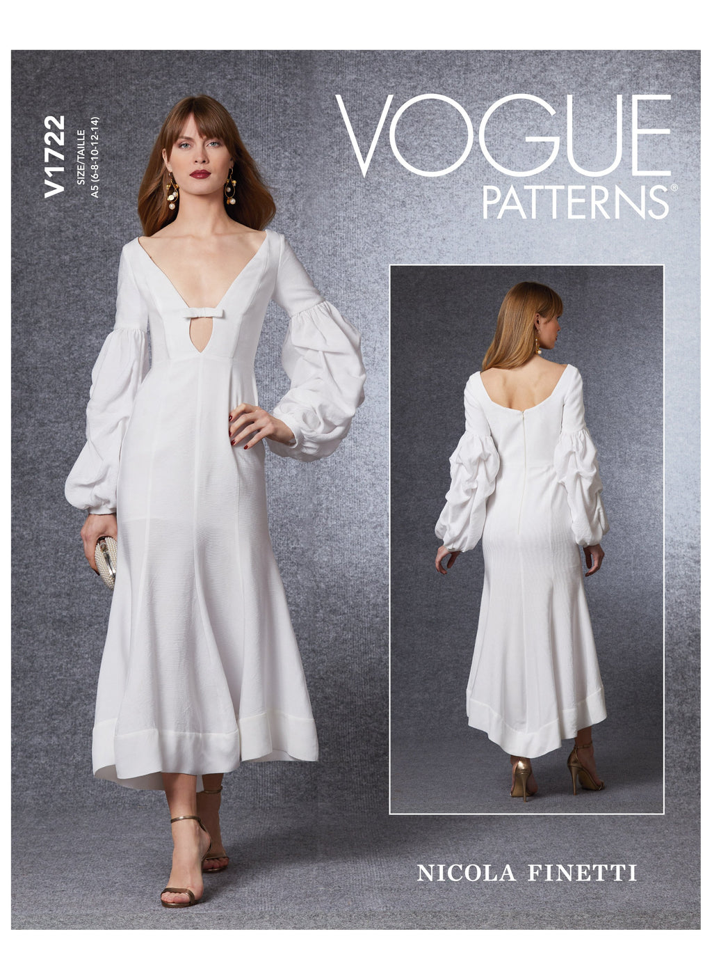 Vogue sewing pattern 1722 Special Occasion Dress | Nicola Finetti from Jaycotts Sewing Supplies