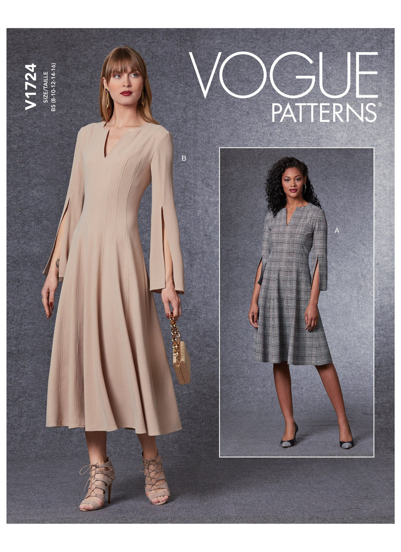 Vogue sewing pattern 1724 Dress from Jaycotts Sewing Supplies