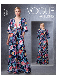 Vogue sewing pattern 1735 Deep- Kimono-Style Dresses with Self-Tie from Jaycotts Sewing Supplies