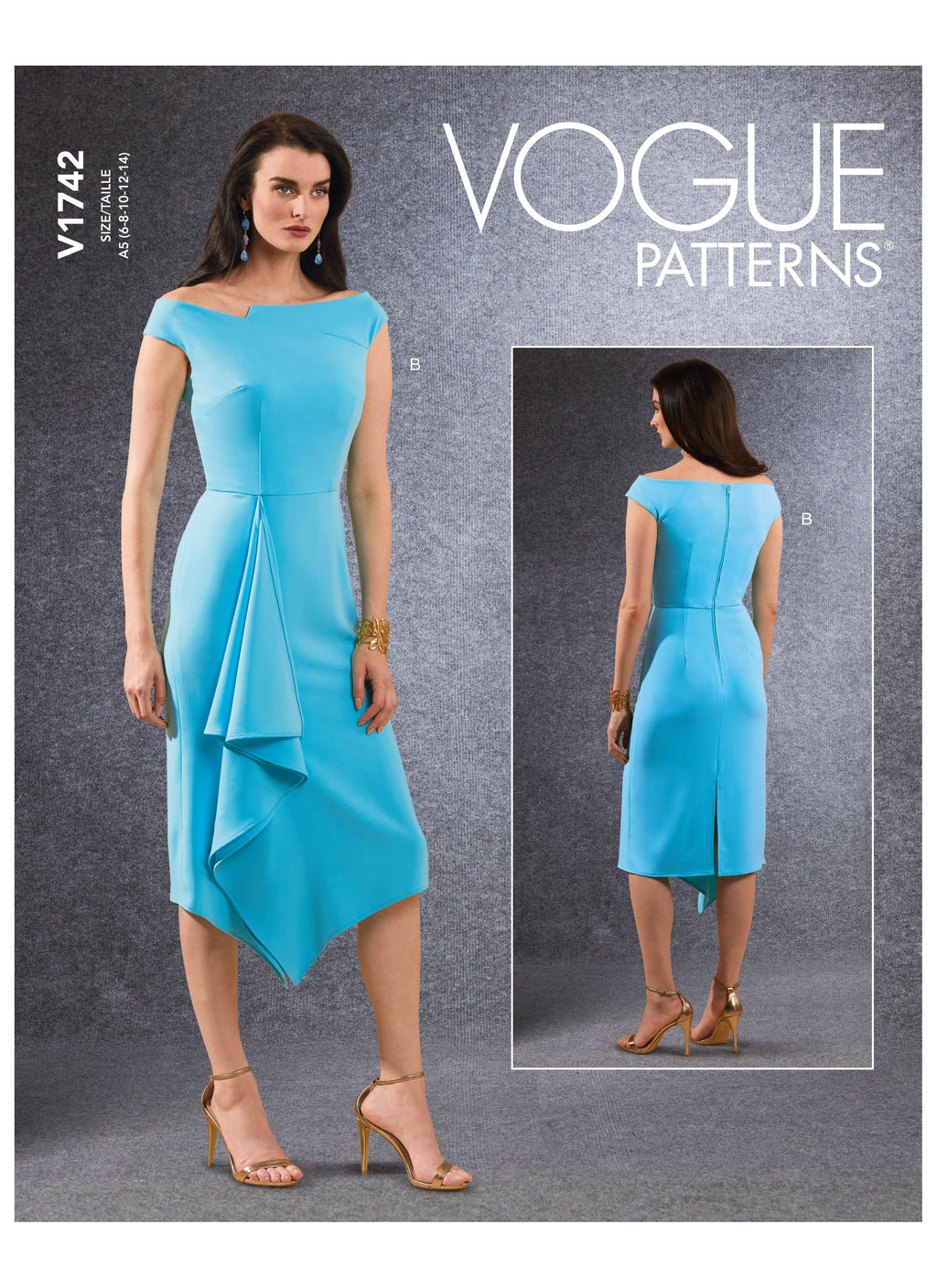 Vogue 1742 Dress sewing pattern from Jaycotts Sewing Supplies