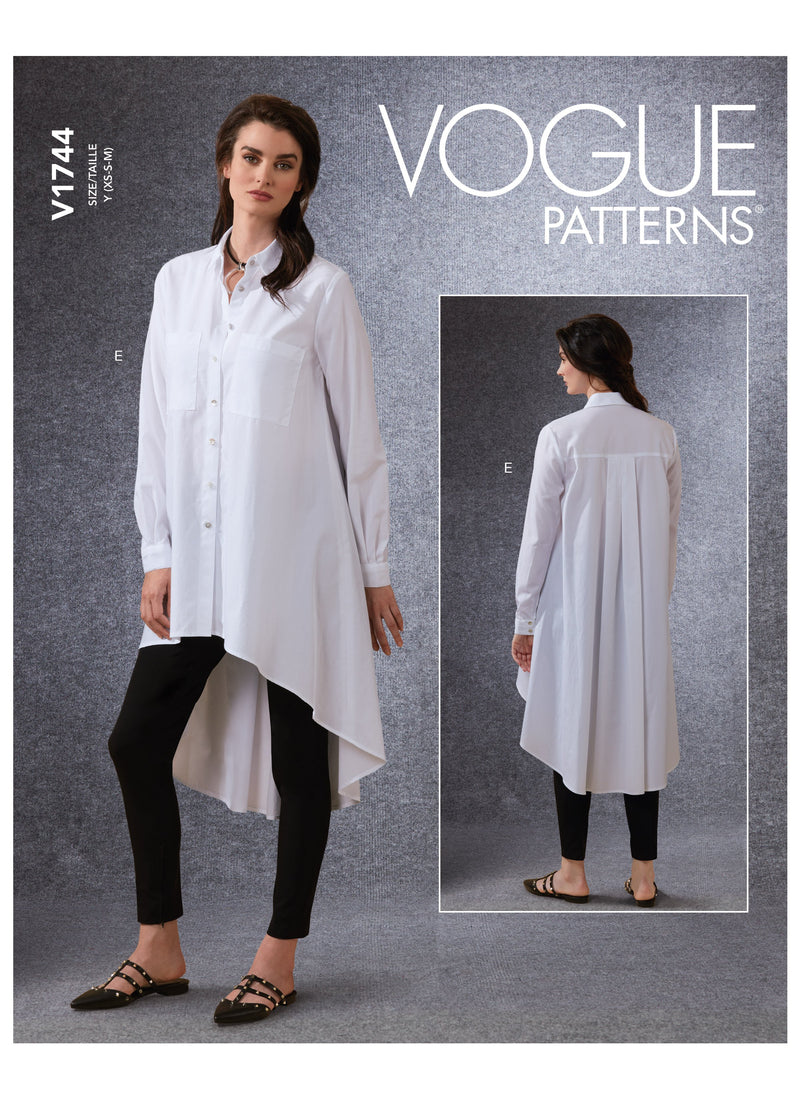 Vogue sewing pattern 1744 Misses' Shirt and Belt from Jaycotts Sewing Supplies